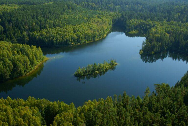 На полпути к Голубым озерам